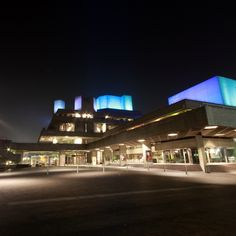 The National Theatre by night Royal National Theatre, Outdoor Theater, Can Run, Playwright, Auditorium, Shakespeare, Great Britain, Plays, Stage