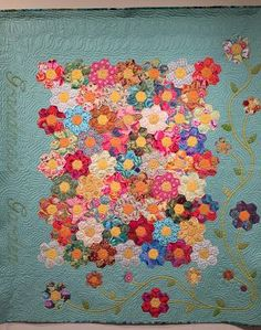 GRANDMOTHERS GARDEN QUILT.............PC
