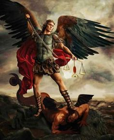 St . Michael the archangel defeats Lucifer! ❣Julianne McPeters❣ no pin limits
