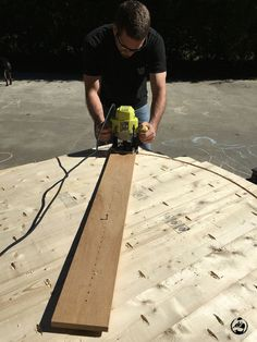 DIY Round Trestle Dining Table - Step 8
