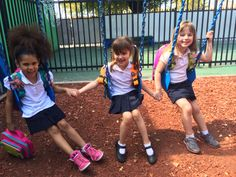 SQUID joins the fun at the playground! #SQUIDkids #SquidPacks #teamSQUID #playground #kidsplaying #bookbags #fun