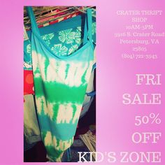 Nothing says #summer like #tiedye! #buylocal #shoplocal #thriftstore #thriftshop #hopewellva #petersburgva #colonialheights #chesterfield #rva #804 #kidsclothes