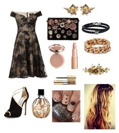 """Beige and black"" by ashleyhuang68 ❤ liked on Polyvore featuring beauty, Ariella, Jimmy Choo, Steve Madden, STELLA McCARTNEY, Alexis Bittar, Phillip Gavriel, Yves Saint Laurent, hairtrend and MyStyle"