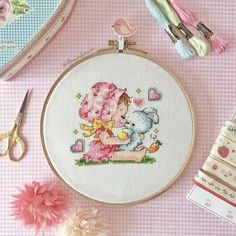 Baby Cross Stitch Patterns, Bead Loom Patterns, Cross Stitch Designs, Learn Embroidery, Embroidery Hoop Art, Cross Stitch Embroidery, Cross Stitch Fairy, Cute Cross Stitch, Stitches Wow