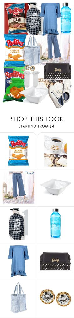 """redundant with ruffles"" by lerp ❤ liked on Polyvore featuring Jac Vanek, Frontgate, Boohoo, Betsey Johnson, Steve Madden and Monsoon"