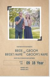 kraft paper snapshot Invitations & Announcements