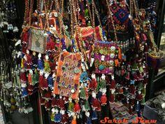 Tribal purses are found in the Grand Bazaar in Istanbul, Turkey   via WanderShopper