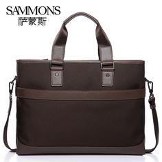 Salmon M Package Oxford Cloth Leather Handbags Shoulder Bag Business Leisure Men Briefcase Messenger Bag Handbags 18228891002