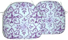 2 Spindle Chair Seat Pads Avignon Orchid