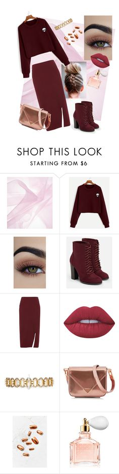 """""""How to wear a pencil skirt"""" by oladda on Polyvore featuring JustFab, Whistles, Lime Crime, Erickson Beamon, Alexander Wang, Static Nails and Guerlain"""