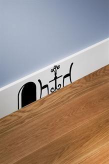 Sticker Muizenhol en Tafel<BR>Zwart