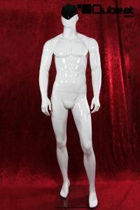 #Schaufensterpuppe #Mannequin #gesichtslos #faceless #weiß #stehend #männlich #glänzend #schwarz #abstrakt