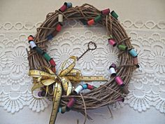 Handmade Wreath for Crafters: Sewing, Quilting