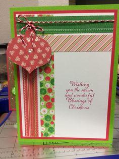 Handmade Christmas card.  #ornament#greetingcard#