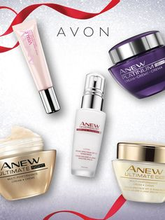 Keep skin merry, bright and beautiful all year long with Avon's ANEW skincare lines. #AvonRep