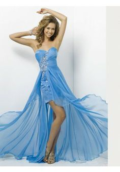 A-line Strapless Sleeveless Chiffon Blue Prom Dress With Beading #FJ043 - See more at: http://www.victoriasdress.com/prom-dresses/long-prom-dresses.html?p=5#sthash.EFmdZZxM.dpuf