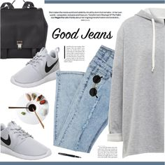 Rock It! High-Waisted Skinny Jeans by novalikarida on Polyvore featuring polyvore, fashion, style, NIKE, Proenza Schouler, Fountain and falldenimtrend