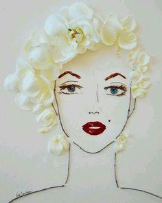 Marilyn flower face