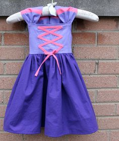 Cyber Monday SALE Disney Tangled Rapunzel Inspired Dress Up and Play Practical Princess Dress Custom Sizing Made to Order. $39.00, via Etsy.