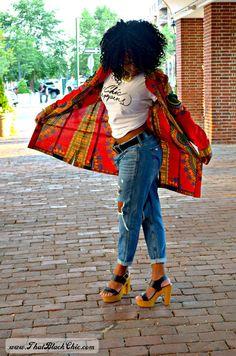 That Black Chic: SEW WHAT?.....A dashiki shirt dress. that's what!