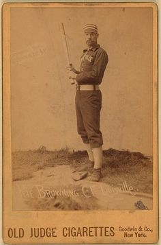 Pete Browning, Louisville Colonels, baseball card portrait