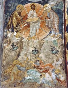 Преображение Господне. Фреска. Убиси, Грузия. XIV в.
