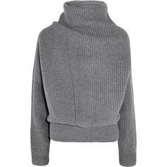 Acne Studios Jacy oversized ribbed wool turtleneck sweater (€200) ❤ liked on Polyvore featuring tops, sweaters, shirts, jumpers, grey, oversized grey sweater, wool shirt, wool sweater, ribbed turtleneck sweater and turtleneck sweater