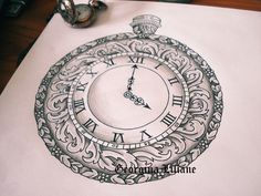 Pocket watch design by BeautyLoveDivine on @DeviantArt