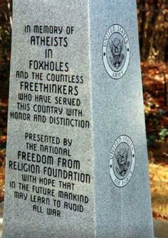 As an atheist who spent time in a foxhole (or two) I'd like to thank the Freedom From Religion Foundation. (sorry if repost) - Imgur
