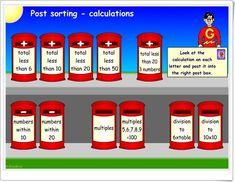 Echa la carta al buzón (Cálculo mental de suma, resta, multiplicación y división) Fun Math Games, Post Box, Addition And Subtraction, Sorting, Lettering, Education, Link, Mental Calculation, School