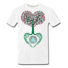 Men's Tree Premium Organic T-Shirt Fabric Weights, Men Fashion, Organic Cotton, Mens Tops, T Shirt, Shoes, Moda Masculina, Supreme T Shirt, Man Fashion