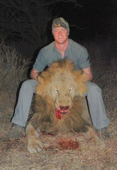 Really now? What a trophy! So proud of hunting that Lion! -,-