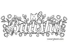50 Best Swear Coloring Sheets Images On Pinterest In 2018