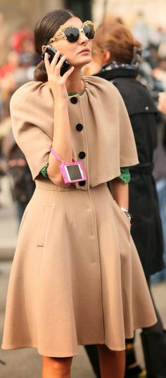 Giovanna Battaglia Camel Tailored suit Just beautiful for winter at work.