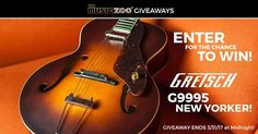 Enter to Win a Gretsch G9555 New Yorker Archtop Guitar!
