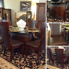 Dining Table - Oval Glass Top Dining Table w/ 6 Chairs - $1199.95 | Too Good To Be Threw Designer Consignments - San Antonio, TX