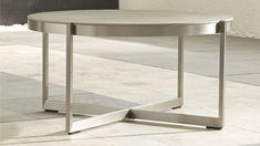 """$500 Dune Round Coffee Table with Pebbled Glass 