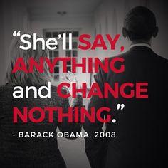 """She'll say anything & change nothing."" #Obama #NeverHillary #JillStein…"