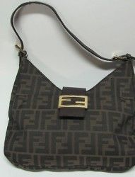 Vintage Fendi SAS Italian Purse Handbag Shoulder Bag Tan   Brown