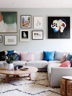 The Design Files | home of Jo & John Emery | art wall