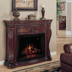 <strong>Classic Flame</strong> Lexington Electric Fireplace Mantel Surround  $530