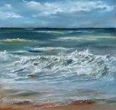 Winterliche Ostseepastelle | Gischt am Strand (c) Pastell von Hanka Koebsch