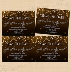 Champagne Bubbles Printable Wedding Save the by BrownPaperMoon, $10.00