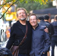 Robert Plant and John Paul Jones of Led Zeppelin, New York City, October 2012