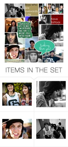 """""""tony perry appreciation set"""" by keep-dreaming-darling ❤ liked on Polyvore featuring art, tony perry and pierce the veil"""