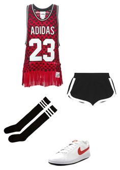 """""""Inspired by iKON's Rhythm Ta"""" by choi-katherine ❤ liked on Polyvore featuring adidas Originals, Fendi and NIKE"""