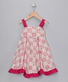 Take a look at this Cranberry Floral Patchwork Dress - Infant & Toddler on zulily today!