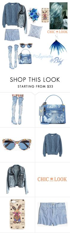 """Untitled #775"" by alinaa191 ❤ liked on Polyvore featuring Cape Robbin, Valentino, Dolce&Gabbana, WithChic, MCM, Madewell and JR by John Robshaw"