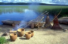 Ancient village in Saarijärvi Finland - about 120 miles south of the Arctic Circle Helsinki, Arctic Circle, Stone Age, Prehistory, Watering Can, Ancient History, Vikings, Nostalgia, Seafood