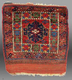 Vintage Antique Kurd Bag Face NW Persia 19th by tcEclecticImages